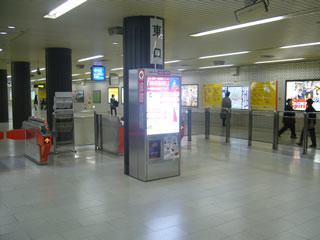 AED地下鉄天神駅1